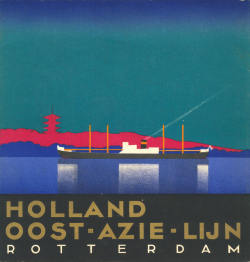 willigula:  Poster for the Holland East-Asia Line, 1934
