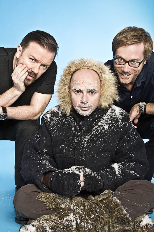 laughspin:  Ricky Gervais to launch Web show starring Karl Pilkington