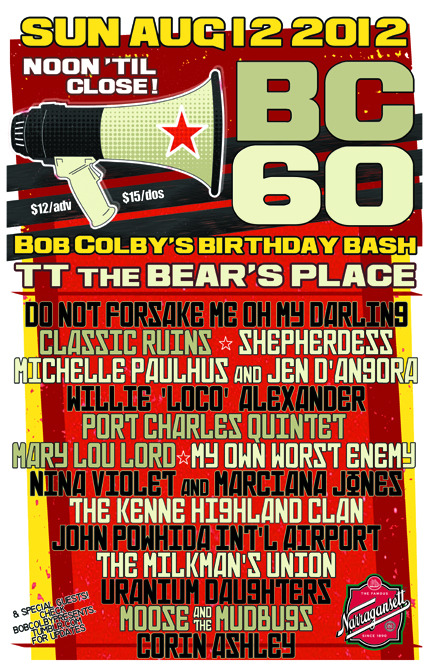 Here's the POSTER for BC60 - thank you to STEVE PRYGODA (from My Own Worst Enemy) for the great design!
