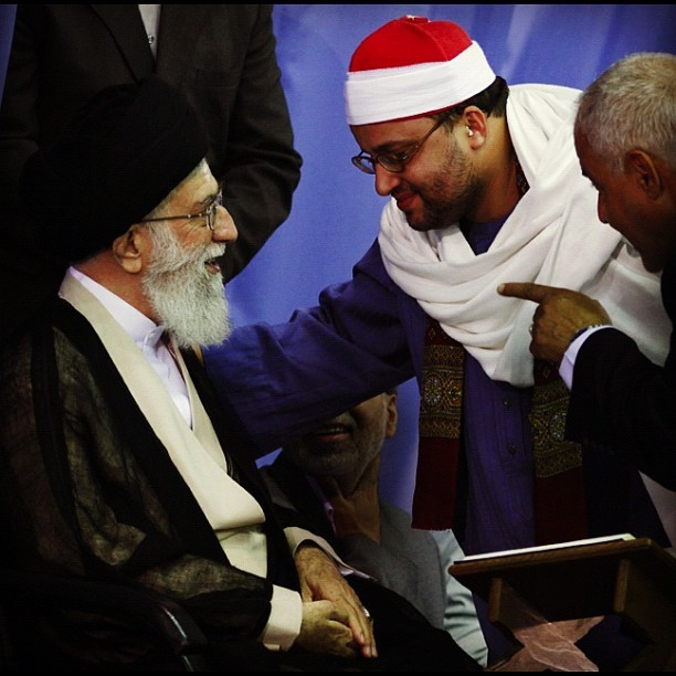natemcgrath:  Iran's Supreme Leader Joined Instagram Grand Ayatollah Ali Khamenei, the supreme leader of Iran since 1989, may or may not have some interest in nuclear technology, but he is not especially known as an early adopter when it comes to social media tech. And yet the unelected septuagenarian, after successfully launching his Twitter account (almost 3,000 tweets, over 4,000 followers, and not following a soul), has taken to Instagram. Instagram!  Read more.