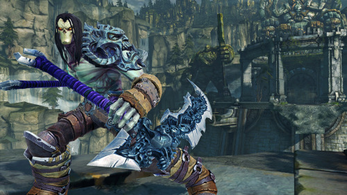 Darksiders achievements unlock loot in Darksiders II   Players who played the first Darksiders will unlock the Pauldron of the Horsemen in Darksiders II. This level 5 legendary armor piece boosts all Death's stats as well as his critical damage. Gamers who have finished the game on any difficulty will also earn a level 1 legendary scythe called the Chaos Fang which will boost Death's damage and critical damage.  The in-game item unlocks are based on Achievements you have unlocked. So if you haven't completed Darksiders you might want to pull your disk out or download it directly from Xbox Live, PSN or on Steam to get ready for Darksiders II. Via: Vigil