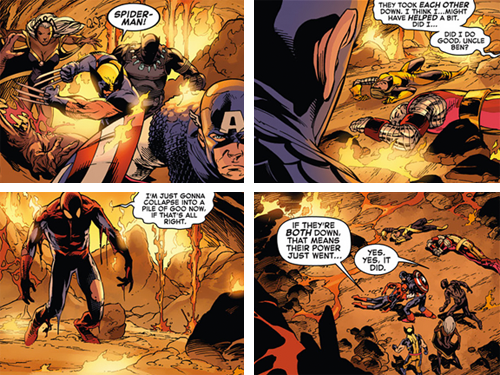 marveloki:  Did I do good, Uncle Ben?Avengers Vs. X-Men (2012) #9  This is why Peter Parker, Spider-man is the greatest of all time.