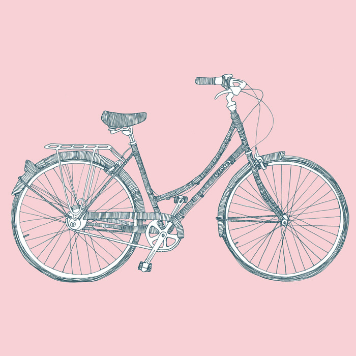Linus Bicycle. Dutchi 8. Sketch. Edit: Now available on Society 6