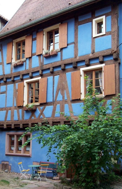 (via Blue House, a photo from Alsace, East | TrekEarth) Riquewihr, Alsace, France