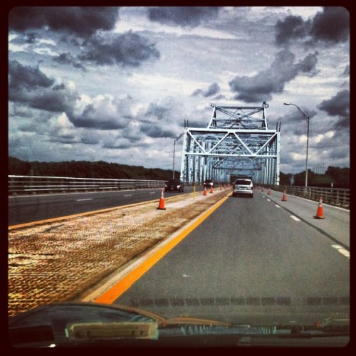 Berkshire Connector/Hudson River Bridge I-90 on the way to Connecticut #landscape #bridge #newyork #hudsonriver #beautiful #phobia  (Taken with Instagram)