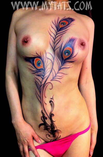 Peep This Ultra Stunning Full-Frontal Peacock Piece By Lucy Hu of My Tats.