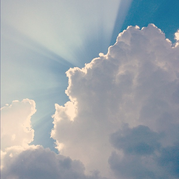 There's an angel peaking out from the clouds 👼☁ #sky #nature #beauty (Taken with Instagram)