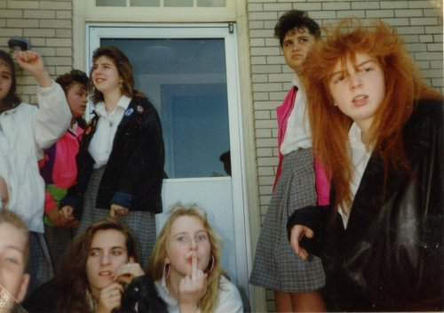 A dear friend gave me this photo of her middleschool friends in 1990.  One of my fave photos ever.