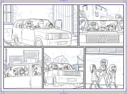 Hopefully the last page I have to redraw for BM1. This was January 5th 2010's page, the original was a mess with a very wobbly car on it, drawn away from home on a very uncooperative computer.