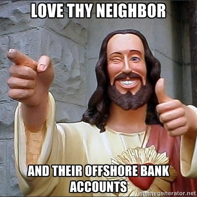 Douche-bag Jesus sets the record straight.