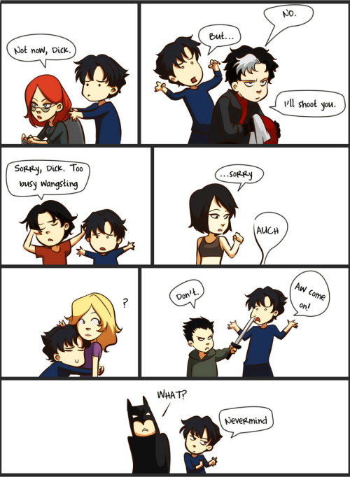 batman-milenec:  Dick Grayson just wants a hug ;c