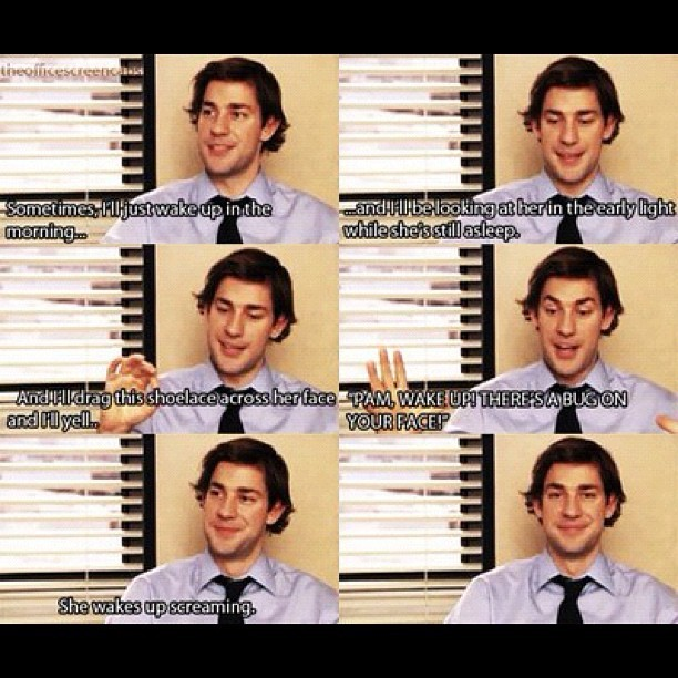 Oh boy, ain't Jim hilarious and do fun to be around? #theoffice #tvshow (Taken with Instagram)