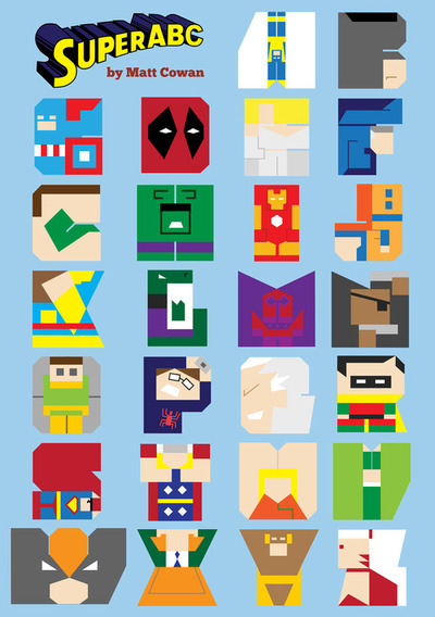 SuperABC Poster Matt Cowan: The poster version of my superhero alphabet book, SuperABC. Poster available from Red Bubble. Children's book from Lulu.