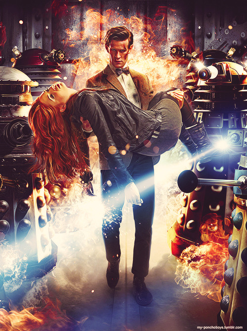 my-ponchoboys:  Doctor Who Promo Pic ~ Season 7 Episode One ~ Asylum of the Daleks  #ahh the old daleks i just can't wait#maybe they will wipe out the power ranger models by passive aggressively serving them tea #and accidentally opening their armor and spilling it on their face#WHOOPS #DID YOU NOT LIKE THE TEAAAA Reblogging for those brilliant tags XD