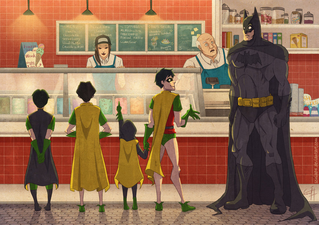 batmanspersonalwhiteknight:  In the icecream stand (x)