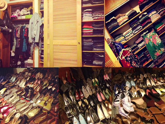 A peak inside a SHEfinds closet.  For seriously jaw-dropping celeb closets, click here: