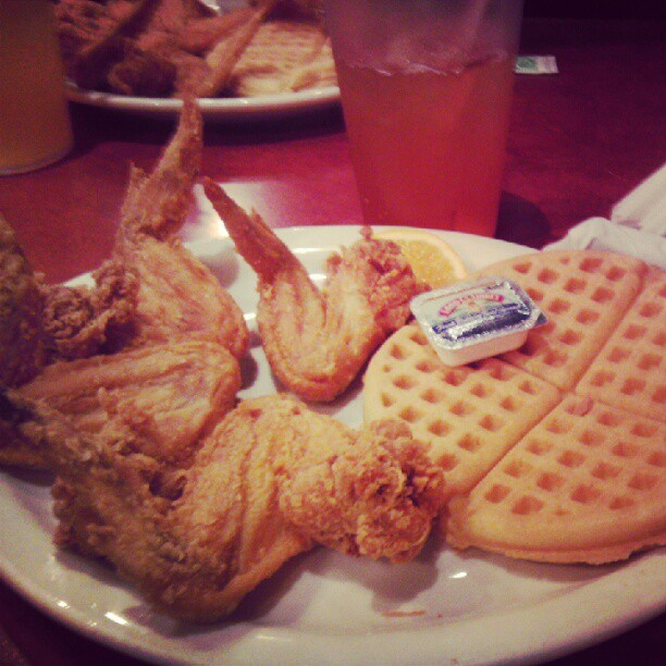 #chicken and #waffles in #Atlanta …feelin that soul food #idfest #identity (Taken with Instagram)