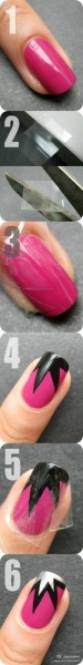 Just thought someone should give Nailside credit for her amazing tutorial. She's the queen of tape manis.