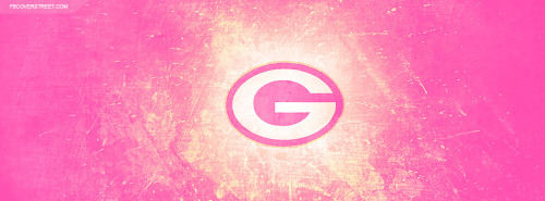 Green Bay Packers Pink Logo 4 Facebook Cover