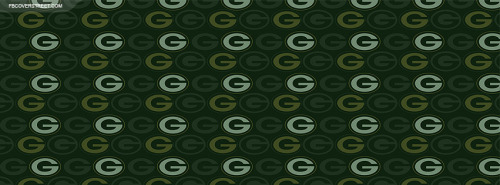 Green Bay Packers Logo Pattern Facebook Cover
