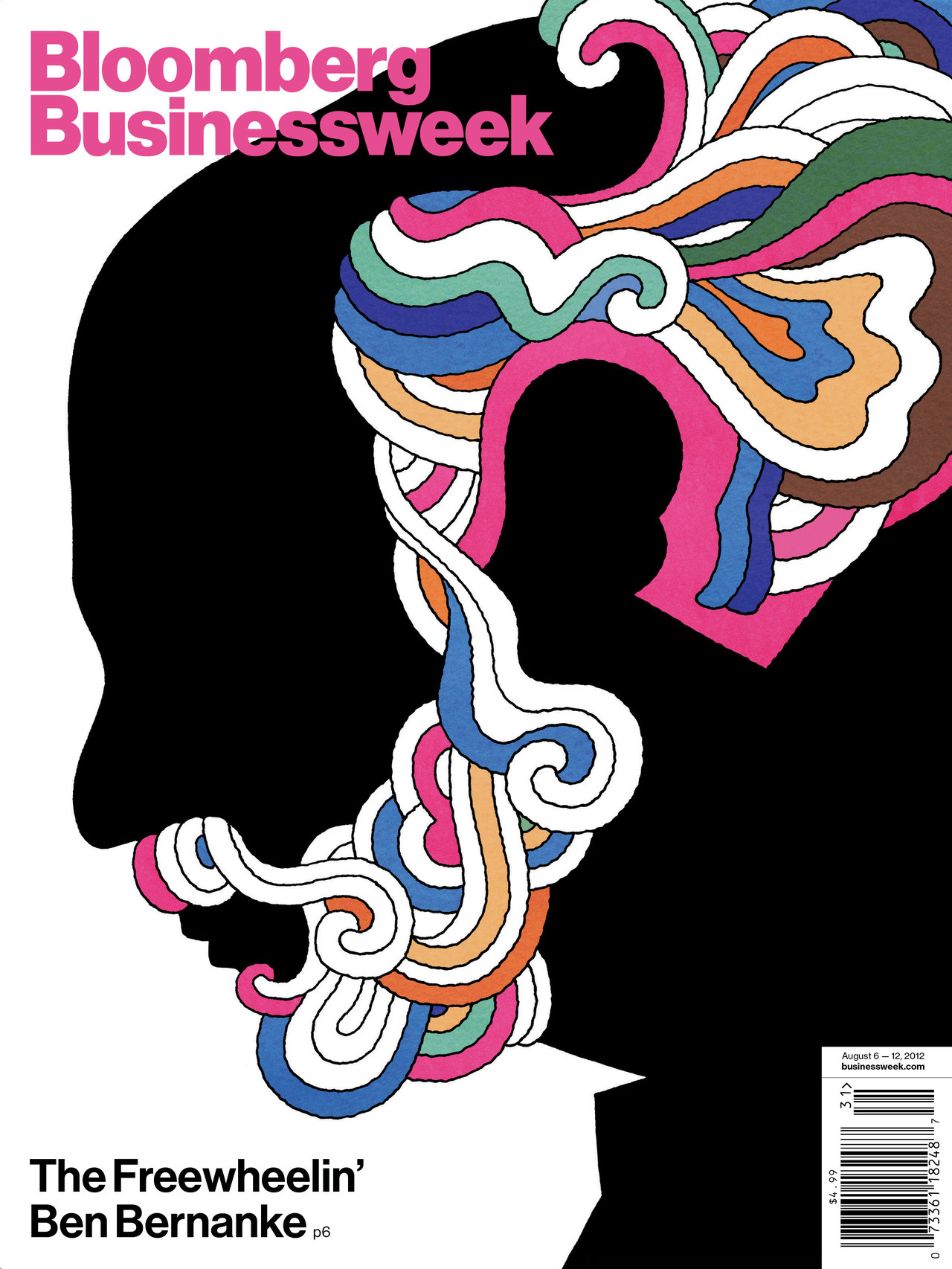 The Freewheelin' Ben Bernanke Illustration by David Parkins. (With apologies to Milton Glaser)