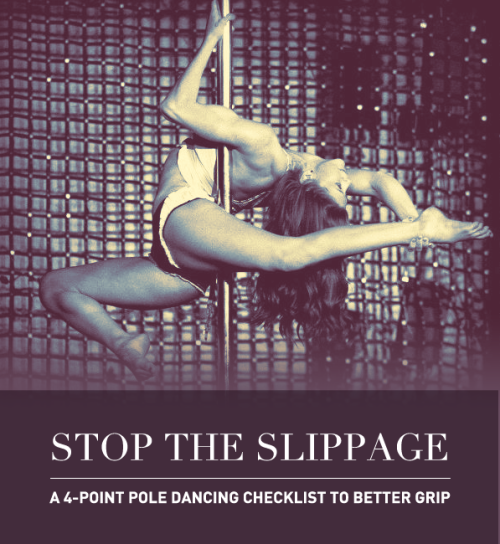bellalani:  missdrusilla:  STOP THE SLIPPAGE! A 4-Point Pole Dancing Checklist. Can't hold on for the life of you? Slipping all over the place? Ripped callouses?!  Every pole dancer has had this problem at one time or another; with the exception of people who don't need grip aids, curse them. There are many things that factor into slippage on the pole but some of the known ones are:  Room & Pole temperature Pole finish Pole diameter Skin type and external products  Room Temperature Depending on the humidity and temperature of the place you live in you may have the weird experience of having great grip some days and horrible grip during others because of the weather. There's definitely a Goldilocks Zone of hot/cold/moisture/dryness that is key to an awesome grip. Quick ways to remedy this: Winter time: Turn up the heat, put on a pair of sweatpants to warm your body up, and take a blow dryer to the pole. Summer time: Air conditioning and a fan. There are fewer options available to you if you don't have air conditioning, but I find that a cold pack wrapped around the pole for a few minutes will help alleviate a pole that has become too slick with heat and oil. Make sure to really wipe down the pole with alcohol since your body tends to secrete more oil and perspiration during summer months.  Pole Finish Different finishes react very differently to skin types, but the general opinion I've gathered is this (listed in most tacky to least): Powder coated > Brass > Titanium Gold > Chrome > Stainless steel. Hold your horses before you go out saying you're going to buy a powder coated pole. Remember that while a pole may have AMAZING hand grip, it'll be practically impossible to do drops or certain moves. Your skin can rip or burn from the friction.   Pole Diameter There's a dynamic trade off between the size of the pole and the limbs mounting them, especially if you've got small hands or thin legs or prominent knees.  50mms and thickerPros: Generally, a thicker pole (50mm+) will produce more secure leg and forearm hooks. Your Jade split will be a breeze, Gemini and Scorpios will be extremely easy because you will have more skin on a larger surface area. Although the 5mm difference between a 45mm and a 50mm may not seem like a lot, it is.Cons: Not many dancers have hands large or strong enough to complete a one-handed spin, twisted grip, or a lift on these poles.  45mmsThese poles are now the standard competition size as most girls find a good balance between hand strength and leg security at this size. 40mm, 38mmPro: You will have the hand grip of gods. Deadlifts, Handsprings, one-handed spins will all be extremely easy. Cons: If you've ever done Lyra/Hoop before you know how painful it is to have a small metal rod behind the backs of your knees. Any sort of leg hangs or variations will be extremely painful, you may even rebruise in areas you've already worked so hard to strengthen.  Skin Type and External Products How much oil and sweat your body secretes can be managed.  If you have dry skin:Moisturize the night before. I recommend Aveeno Daily Moisturizing Body Lotion and I DO NOT recommend any of the Nivea lotions. There are also pole dance specific moisturizers out there like Pole Physics, which leave a non greasy finish and locks in moisture. Grip aids that will work for you include Dew Point Pole, which moisturize first, then lock in grip (these need to be applied at least 10 -5 minutes before class). If you have normal skin: Don't apply lotion right before class, that's a spell for trouble — especially if your skin takes awhile to absorb moisture. Use a grip aid like Dry Hands, iTac, Mighty Grip Powder or X Grip to supplement your grip. If you have oily or really sweaty skin: Use Tite Grip or another form of antiperspirant. This product needs to be applied before class (like 20 minutes to an hour before) or a session and prevents you from sweating. It is NOT a grip aid. You may find that you'll need a grip aid on top of this if you're extremely sweaty and oily. If you're in a pinch try spraying or dabbing rubbing alcohol on your hands and limbs and wiping with a clean cloth to give you a clean slate and then applying a grip aid.If you're having a really hard time finding a good product in the pole realm, don't be afraid to try out weight-lifting solutions like Firm Grip or Firm Grip Paste. These are really excellent if you need a ton of grip to feel secure. You may also want to purchase a set of Grip Gloves for days where your skin is too raw or oily. Mighty Grip also carries a variety of products for your ankles, hips, etc so that you can keep on dancing!Remember there can be instances where you can have TOO MUCH grip. If conditions are right, you may have that perfect storm and what will happen is a tear. Your skin can burn raw or rip completely off if there's too much going on. If a rip does happen, clean it off with soap and water, take a clean pair of clippers and cut off the flap of skin, bandage and keep it clean. It sucks and may prevent you from dancing for awhile, but stay strong!   All these 4 points are interrelated, you may or may not have a hard time finding the right combination for you but keep trying! If you have ANY questions, don't be scared to message me. I will respond and I can do it privately if you ask me to :) Keep on dancing <3!  Not me but tagged for helpful tips!