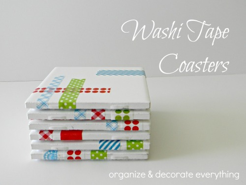 Washi Tape Coasters via Organize & Decorate Everything