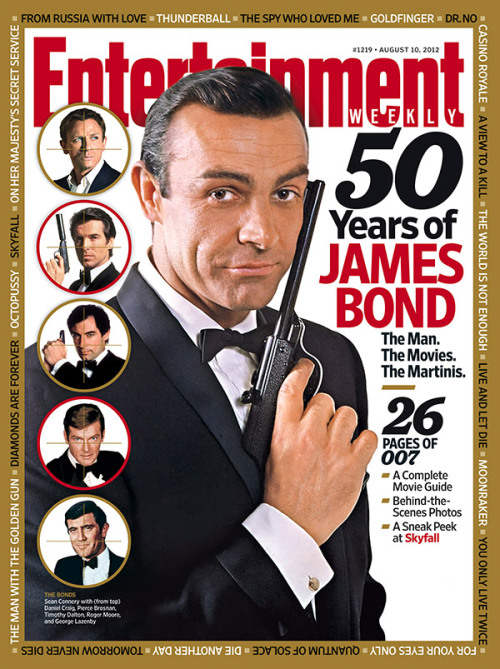 entertainmentweekly:  This Week's Cover: 50 Years of James Bond — plus a sneak peek at Skyfall