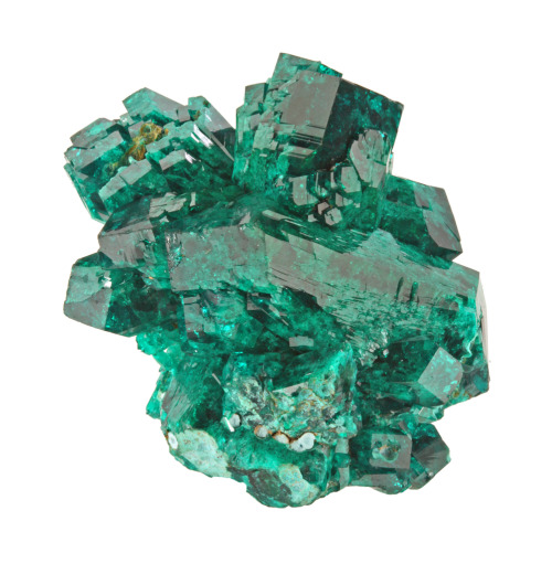 Dioptase from the Congo by Dan Weinrich via Mindat
