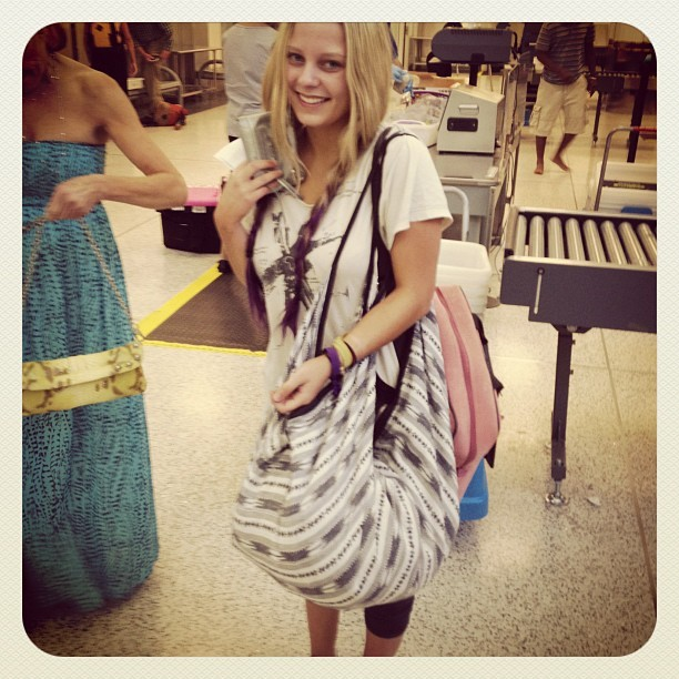 Lexi spotted at LAX with her Tylie Ikat Nomad (Taken with Instagram)