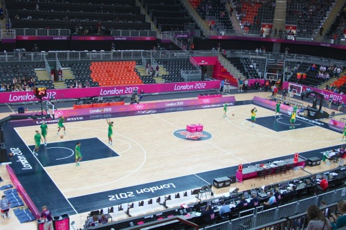 More Olympic action at London 2012 today with Basketball (Team GB!) and a trip to a wet Park Live to see our first gold!