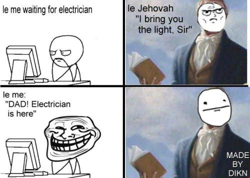 trollfacecomic:  Troll Face - Jehovah's Witnesses This almost happened in real life!  Submitted by Simon Dikn