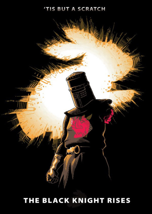 Fucking epic shirt of the day: The Black Knight Rises GOD YES Product link