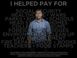 pag-asaharibon:  My Taxes Are Documented. I Am Not.  Undocumented American workers paid $11.2 billion in taxes in 2010 — putting money INTO systems like health care, Social Security, and education, not taking it out. Attacks on American immigrants have claimed the opposite. Ironically, the U.S. Customs and Border Protection annual budget is $3.5 billion — an amount covered by undocumented Americans three times over. Share this with someone who doesn't see the value that new Americans bring to our communities every day through their work and through their paychecks.  ORIGINAL: This original Upworthy graphic by JD Reeves is based on data reported by Time magazine.