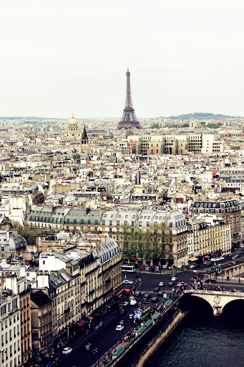 letsbelittlekidstogether:  Paris je t'aime