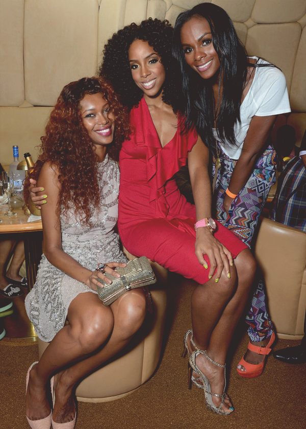 "Jessica White & Tika Sumpter support their friend Kelly Rowland as she unveils  the new TW Steel Kelly Rowland ""Special Edition"" watches in New York City"
