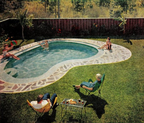 "Letcher & Chris Johnson's Pool in Jacksonville, FL  ""The American Home"" magazineMay 1956"