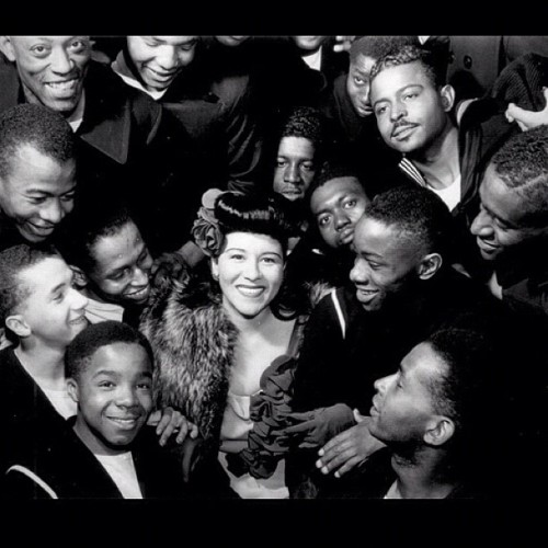 "Singer Marva Louis, wife of boxing great Joe Louis entertaining men in the african american regiments at US navel training station, Great Lakes Il. 2000 ""bluejackets"" gathered to hear her sing. #MarvaLouis #JoeLouis #USnavy #vintage #blackbeauty #blackpinup (Taken with Instagram)"