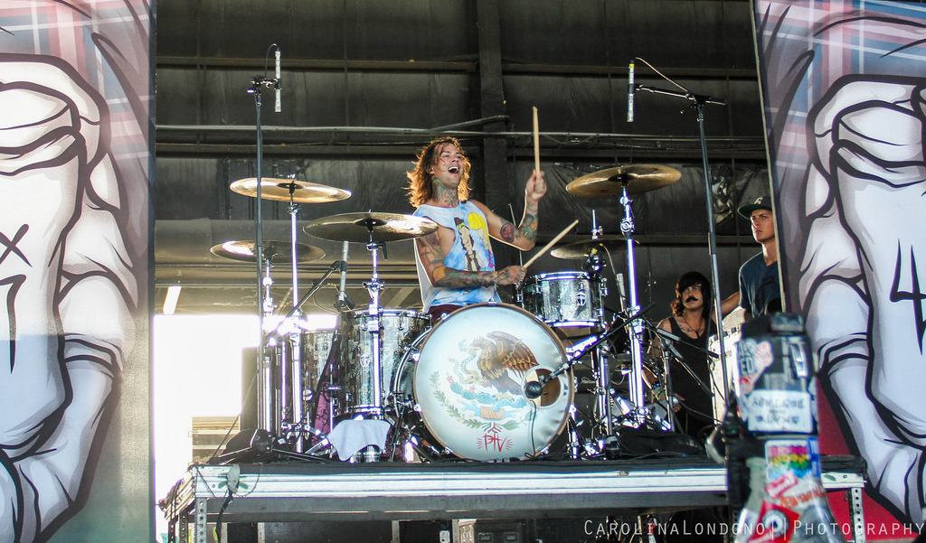 Mike Fuentes // Pierce The Veil - Vans Warped Tour // West Palm, FL
