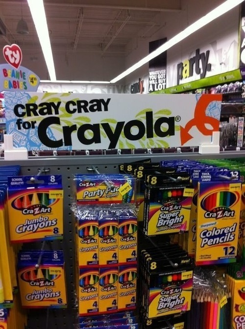 i don't know what's funnier the pun or the fact that there's no crayola products