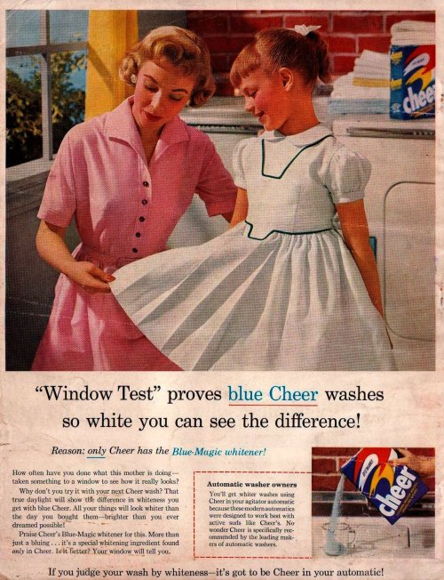 "Cheer Detergent Ad  ""The American Home""July 1956"