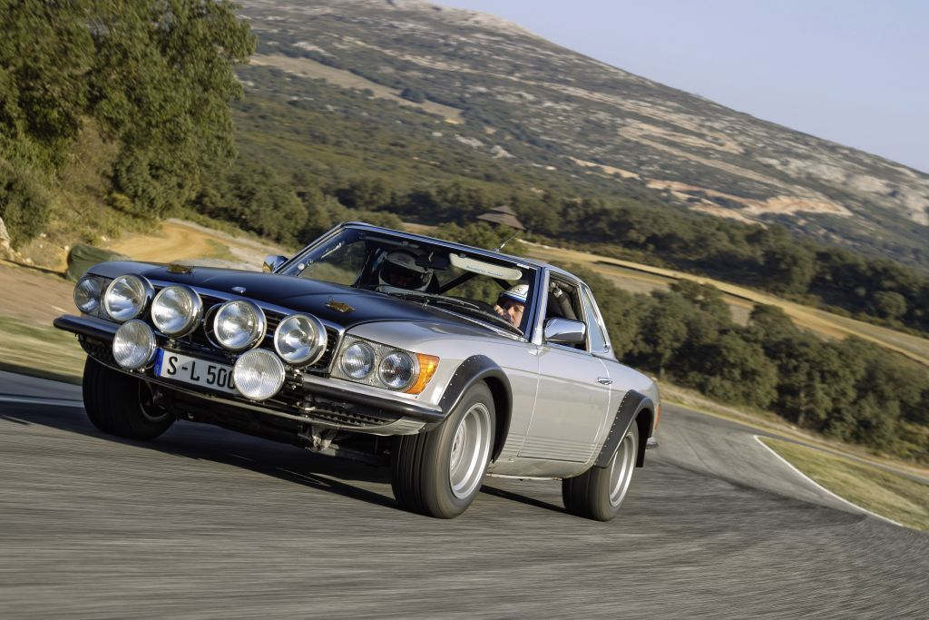 1981 Mercedes-Benz 500SL in rally trim