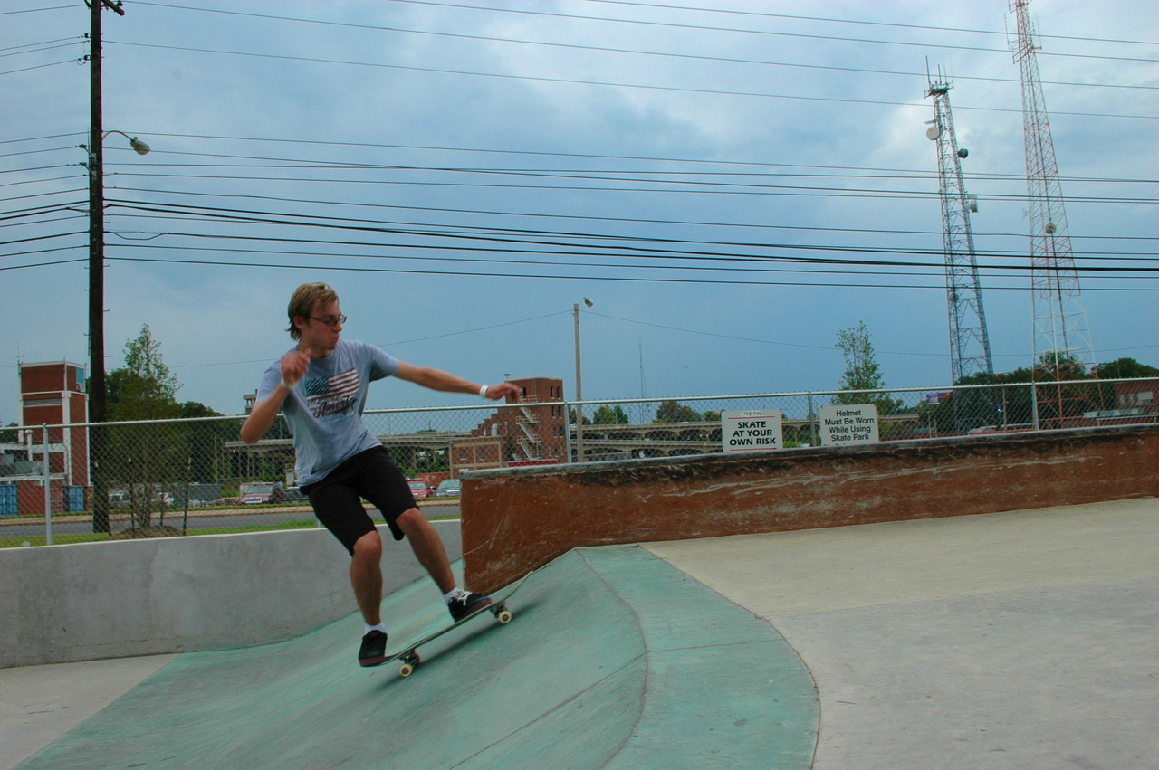 Dylan at the skatepark Photo by jussk8