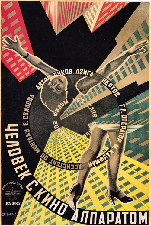 "gotafever:  ""Man With A Movie Camera"" 1929 original film poster."