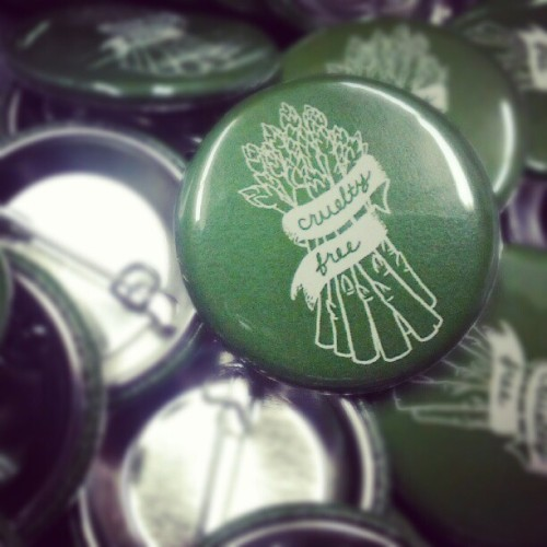expandedcircle:  New button! #vegan #crueltyfree #compassionco (Taken with Instagram)  New buttons that will be available first at the Animal Rights Conference in DC this weekend. We will put the remainder up online shortly thereafter.