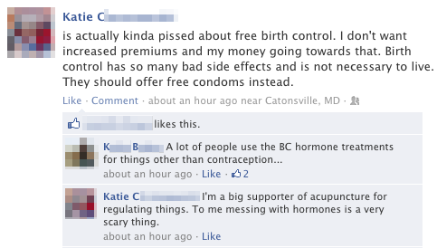 I prefer using aromatherapy to prevent pregnancy. GET GOVERNMENT OUT OF MY BODY.