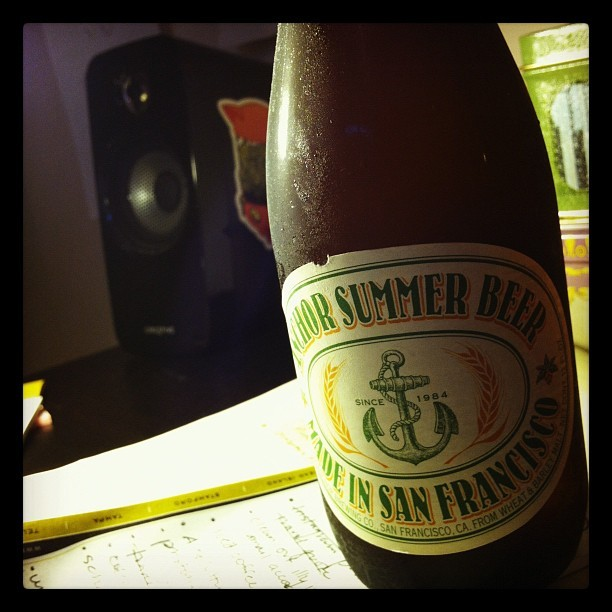 Oh beautiful #beer. #summer #anchorbrewing #humpday (Taken with Instagram)stagram