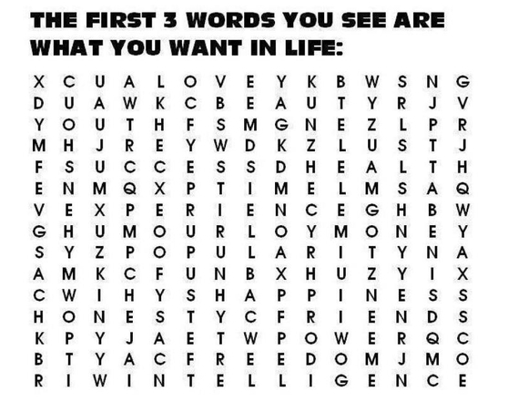 Love, friends, money.