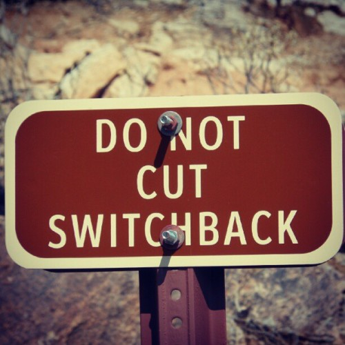 "Overheard on the trail yesterday- @dhondrums: ""what's a switchback?"" He might not want to know. #ArizonaAdventure #tryingstuff  (Taken with Instagram)"