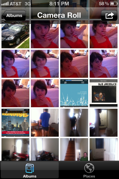 What's on my camera roll? Pictures of me taking pictures of me.